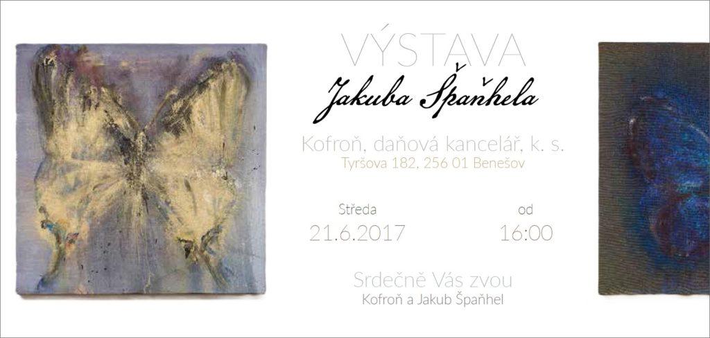 Pozvánka na výstavu Jakuba Špaňhela – Motýli